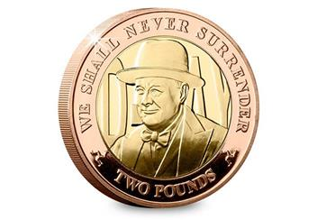 D Day 75Th Churchill Iom Gold Proof Two Pound Coin Reverse