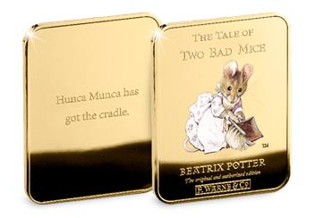 Peter Rabbit Gold Plated Ingot Collection 2Bad Mice2
