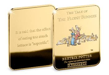 Peter Rabbit Gold Plated Ingot Collection Flopsy Bunnies2