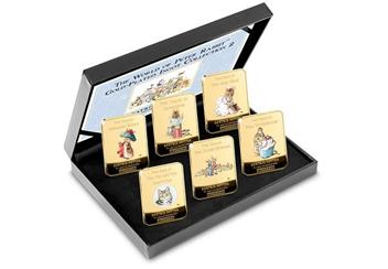 Peter Rabbit Gold Plated Ingot Collection In Box