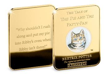 Peter Rabbit Gold Plated Ingot Collection Pie Pattypan2