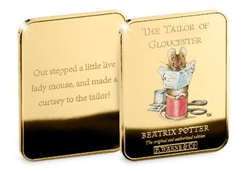 Peter Rabbit Gold Plated Ingot Collection T Of G2