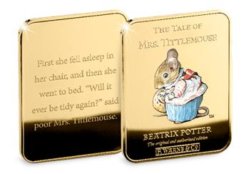 Peter Rabbit Gold Plated Ingot Collection Tittlemouse2