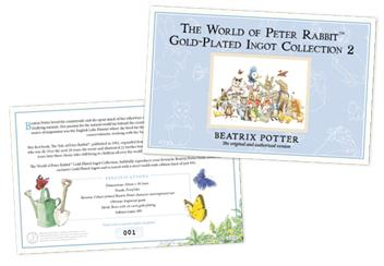 Peter Rabbit Gold Plated Ingot Collection Cert (1)