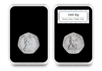 50Th Anniversary Of The 50P Coin Pair 1969 In Capsule