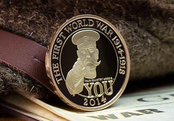 Uk 2014 Wwi 100Th Lord Kitchener Gold Proof Two Pound Coin Lifestyle1
