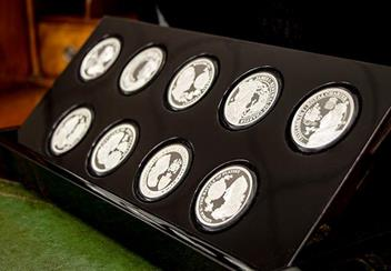 Eic 2019 Empire Collection Silver Proof Nine Coin Set In Display Case Lifestyle2