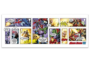 2019 Marvel Stamps Product Images Minisheet 1