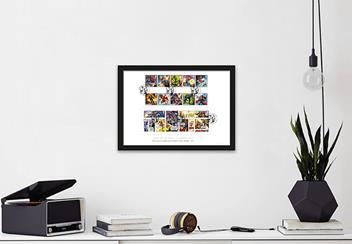2019 Marvel Stamps Product Images A4 Frame Lifestyle 1