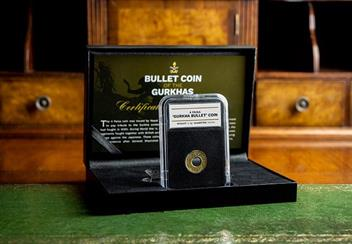 Nepal 1955 Gurkha Bullet 4 Paisa Coin In Display Case Lifestyle