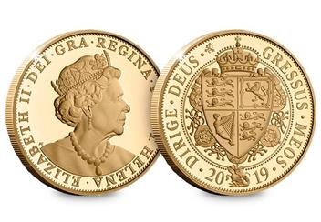 Eic 2019 Queen Victoria Gold Proof Sovereign Obverse Reverse