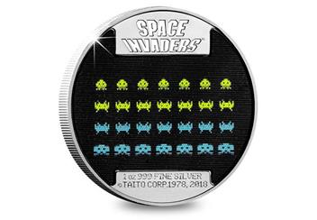 2018 Space Invaders 40Th Silver Proof Coin Reverse
