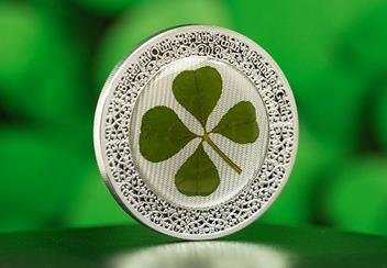 2019 Ounce Of Luck Four Leaf Clover 1Oz Silver Proof Coin Lifestyle