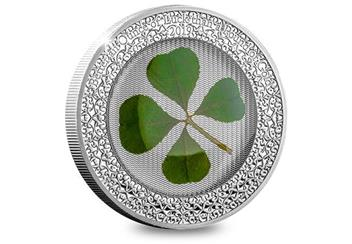 2019 Ounce Of Luck Four Leaf Clover 1Oz Silver Proof Coin Reverse
