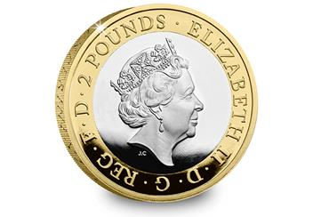 Wedgwood 2 Pound Coin Product Images Silver Proof Obverse 1