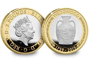 Wedgwood 2 Pound Coin Product Images Silver Proof Obverse Reverse 1