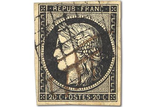 First Ever French Postage Stamp