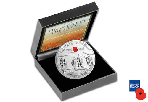 Somme Centenary BU 5 Pound Coin Box