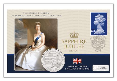 Sapphire Jubilee First Day Cover