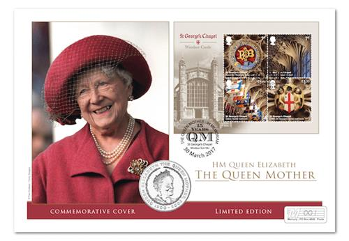 Queens Mother Commemorative Coin Cover