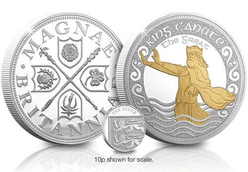 King Canute the Great 5oz Silver Commemorative Obverse Reverse