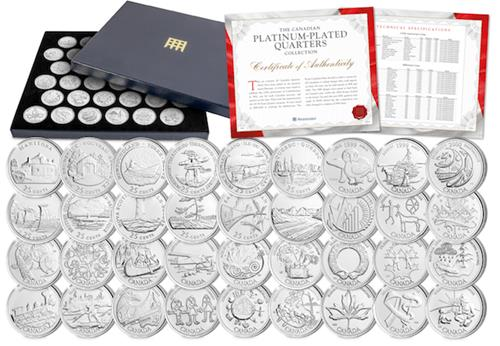 Canada Platinum Plated Quarters Collection Main