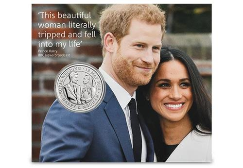 2018 Royal Wedding Bu Five Pound Royal Mint Packaging5