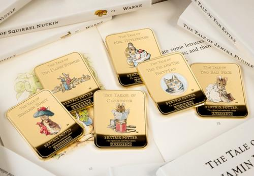 Peter Rabbit Gold Plated Ingot Collection Lifestyle