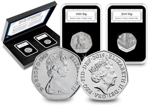 50Th Anniversary Of The 50P Coin Pair