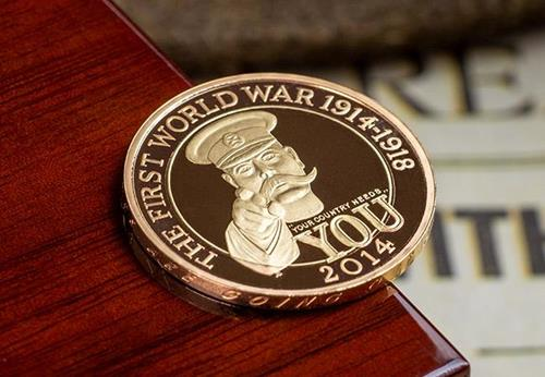 Uk 2014 Wwi 100Th Lord Kitchener Gold Proof Two Pound Coin Lifestyle2