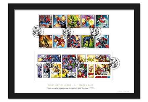 2019 Marvel Stamps Product Images A4 Frame 1